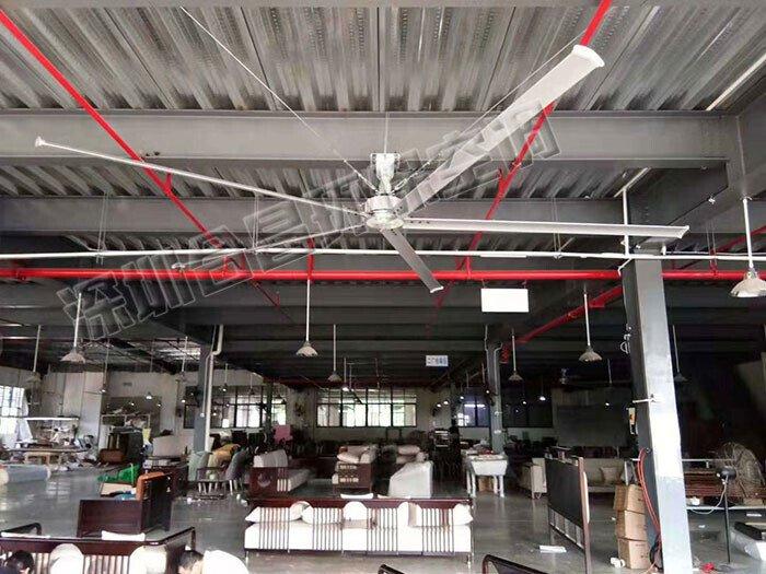 潤東方工業大風扇降溫案例