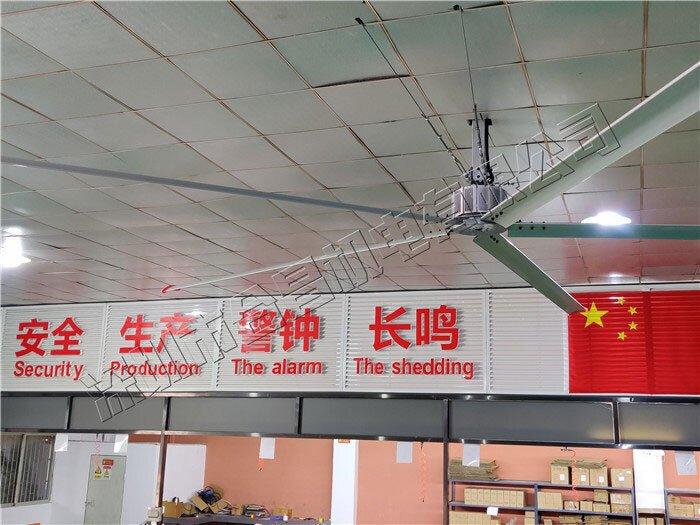 润东方工业大风扇降温案例