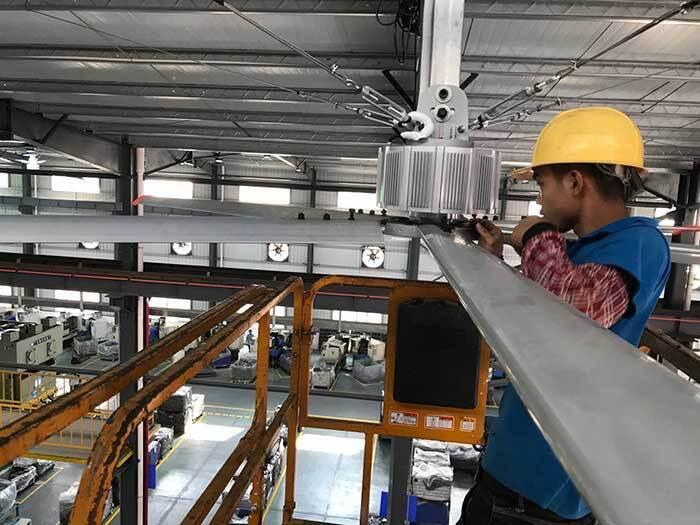 工業大風扇降溫案例