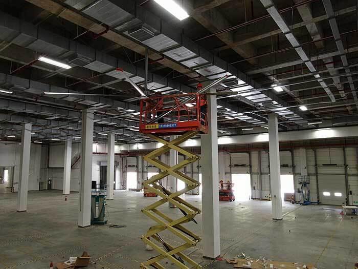 工業吊扇工廠車間降溫案例