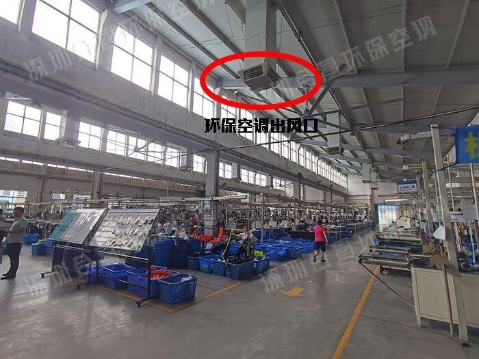 扇机互补厂房降温案例